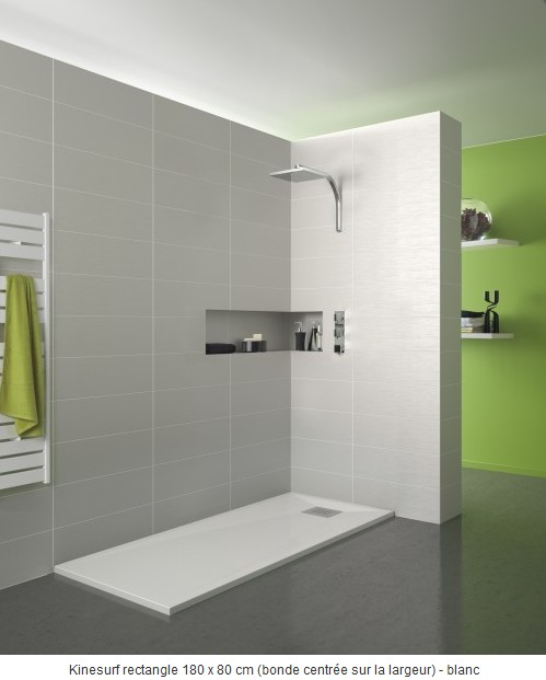 kinedo receveur de douche extra plat baignoire et sanitaire carrelage. Black Bedroom Furniture Sets. Home Design Ideas