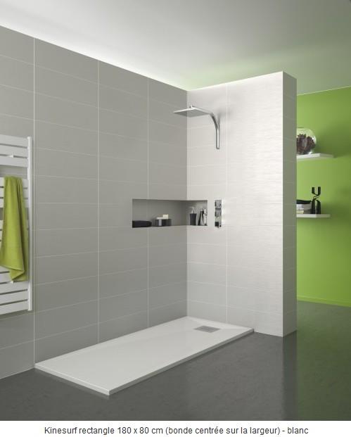 Kinedo receveur de douche extra plat baignoire et for Baignoire faible largeur
