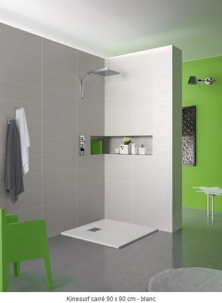 receveur kinesurf extraplat blanc kinedo baignoire et sanitaire receveur de douche extra plat. Black Bedroom Furniture Sets. Home Design Ideas