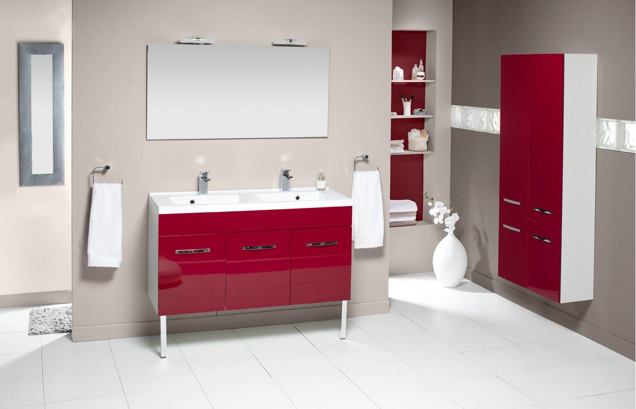 Meuble salle de bains prefixe porte 120cm aquarine for Meuble salle de bain bordeaux
