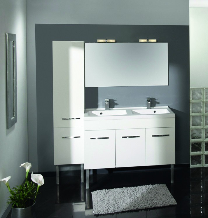 Meuble salle de bains prefixe porte 120cm aquarine for Meuble salle de bain aquarine
