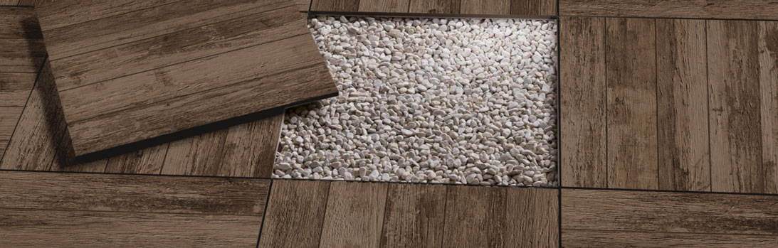 Carrelage forte épaisseur 20 mm 60x60 Remake T_20 Brown  Supergres