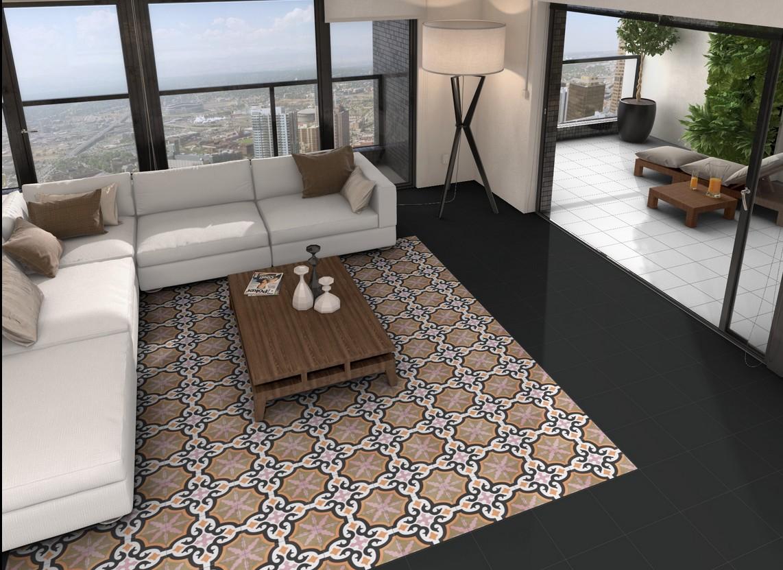 Carrelage sol interieur carrelage en ligne faiences for Carrelage aspect carreau ciment