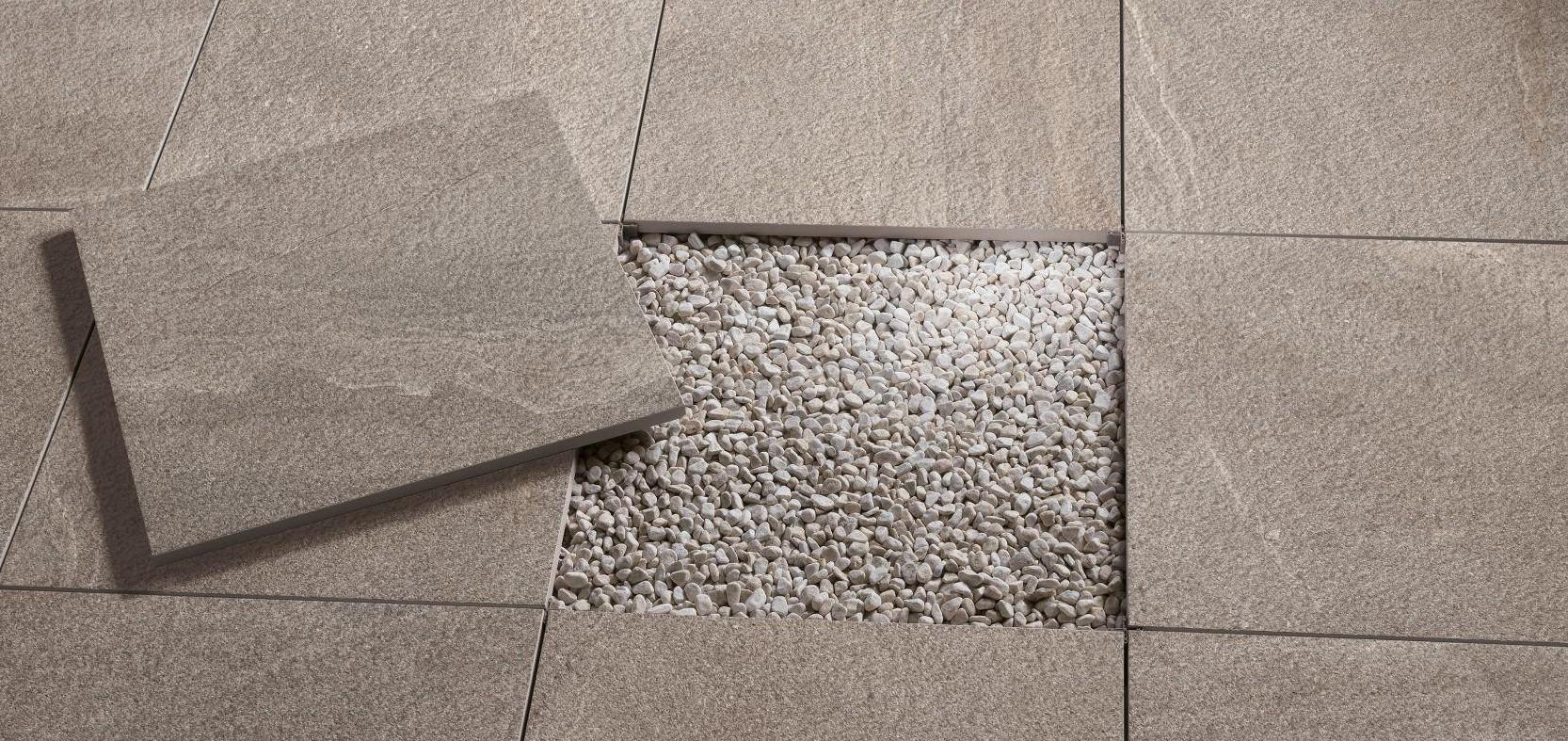 Carrelage en gr s c rame 45x90 paisseur 2 cm sur plot for Carrelage stone