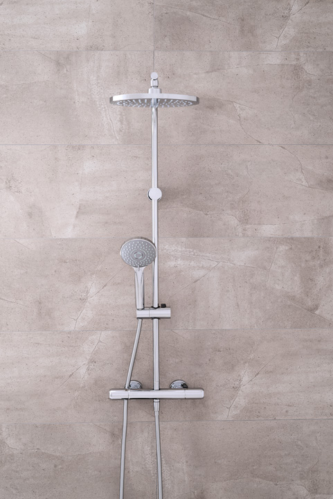 Colonne de douche thermostatique E-Plus Grober