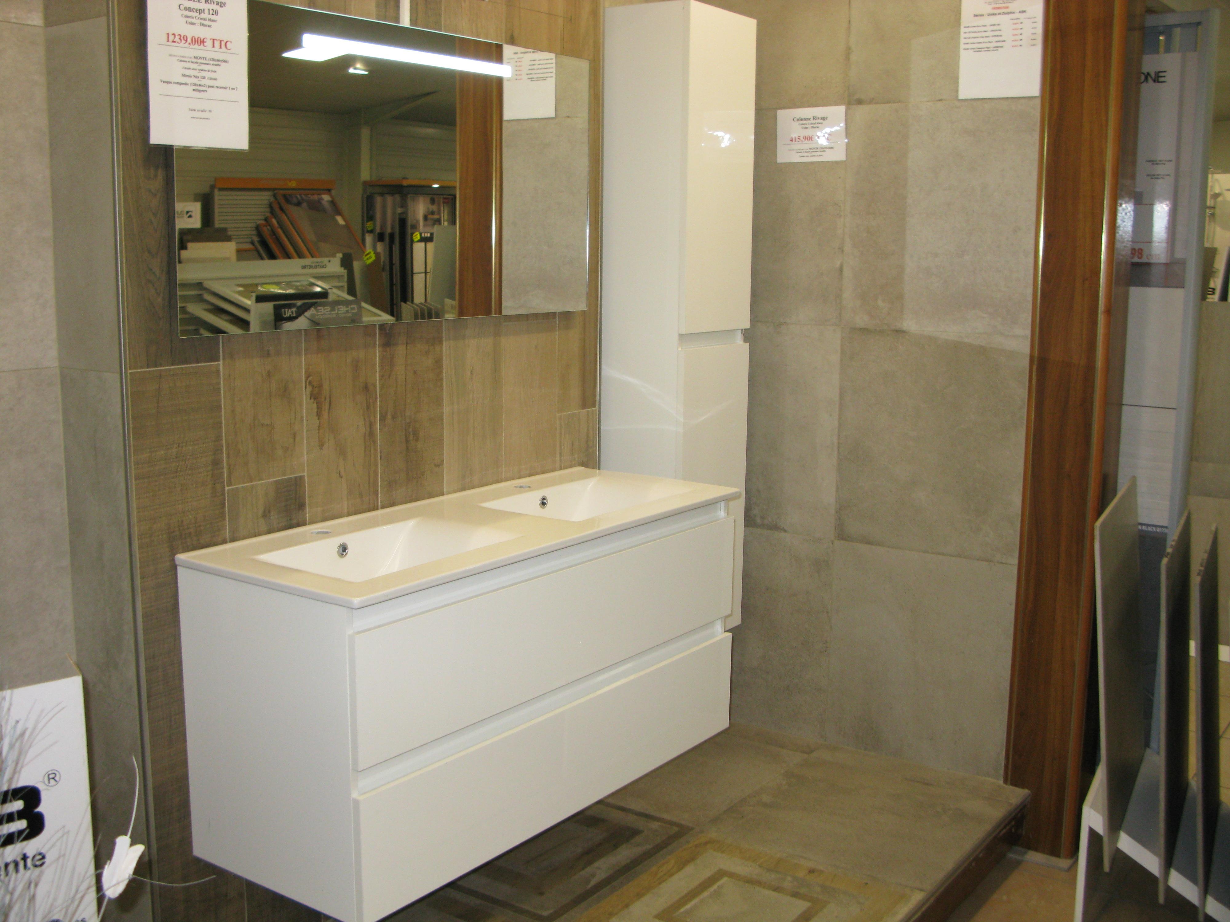meuble salle de bains rivage concept 90 ou 120 discac